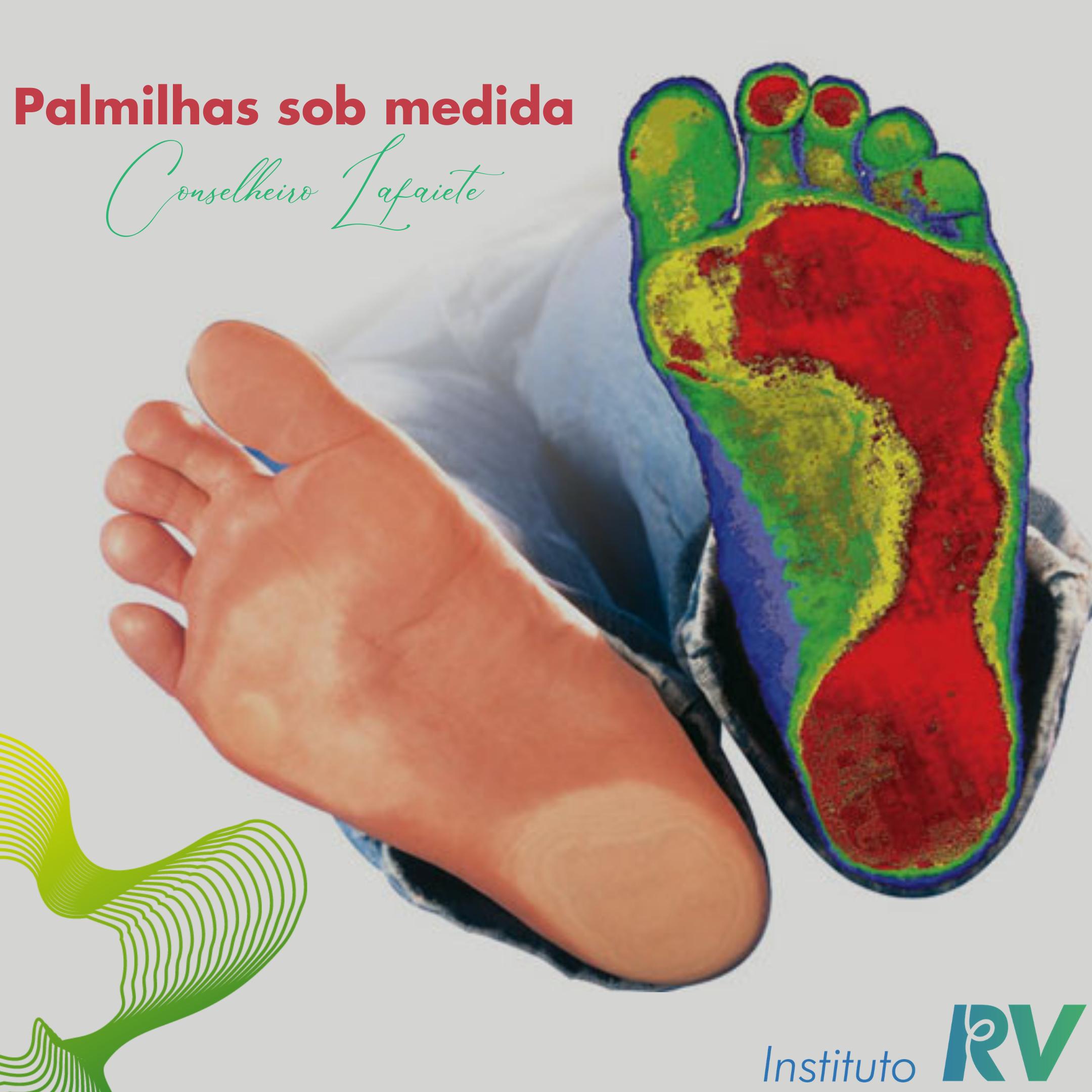 Palmilhas sob medida ortopédica